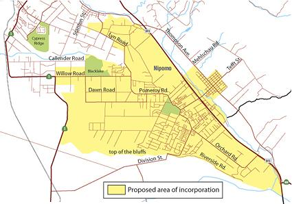 Tentative Boundaries for the Town of Nipomo